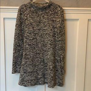 Heathered Turtleneck Dress